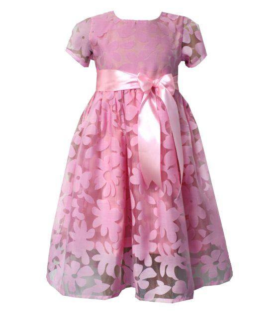 52194 Платье (органза) РОМАШКИ РОЗОВЫЕ