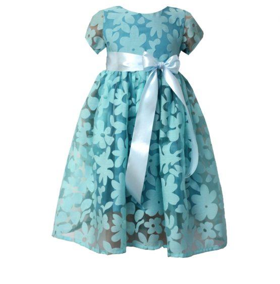 52194 Платье (органза) БИРЮЗОВЫЙ