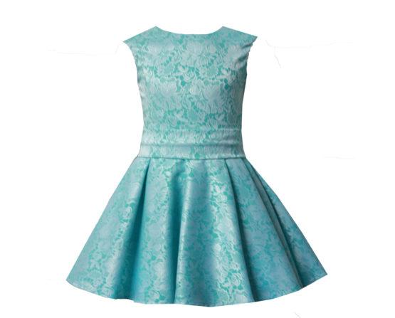 45371 Платье «Мерлин» (жаккард) ГОЛУБОЙ