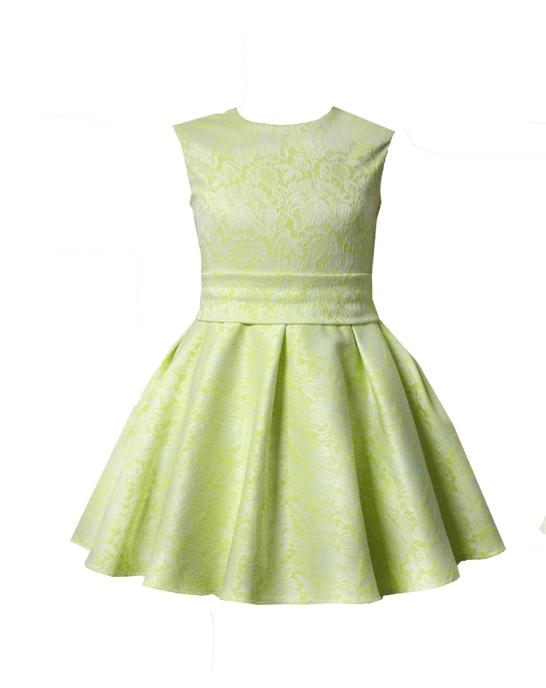 45371 Платье «Мерлин» (жаккард) ЖЕЛТЫЙ