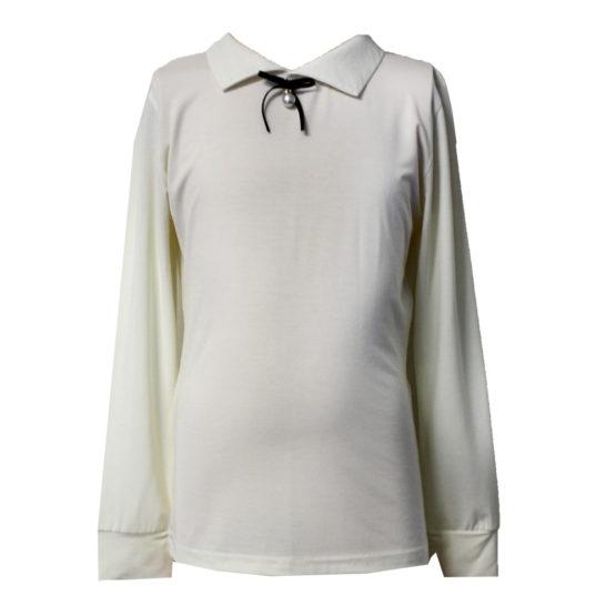54266 Блуза для девочки (вискоза) МОЛОЧНЫЙ