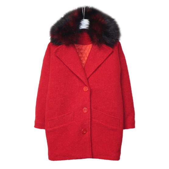591100 Пальто зимнее утепленное (полушерсть) КРАСНЫЙ