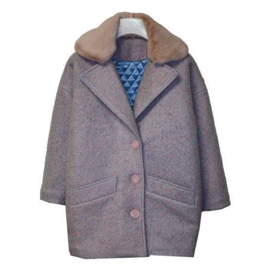 591100 Пальто зимнее утепленное (полушерсть) РОЗОВЫЙ