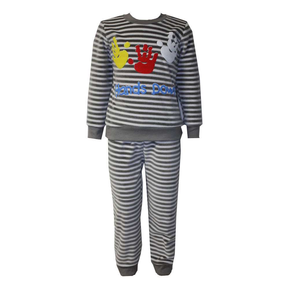 61112 Пижама полосатая (велюр)