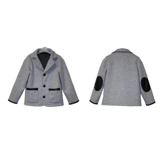 60181 Пиджак с карманами (велсофт+супрем) СЕРЫЙ