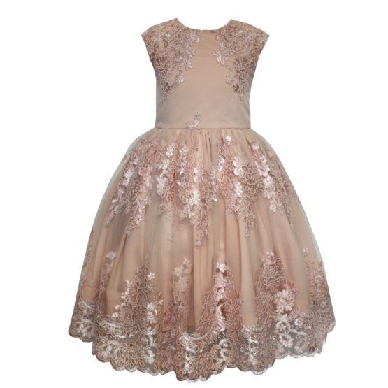 613106 Платье кружевное РОЗОВЫЙ