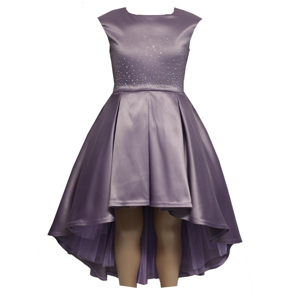 621110 Платье (плотный атлас) СИРЕНЕВЫЙ
