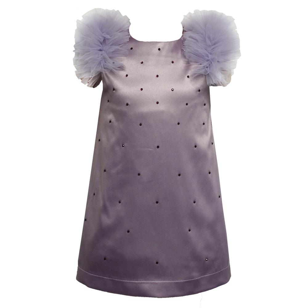 622110 Платье (плотный атлас) СИРЕНЕВЫЙ