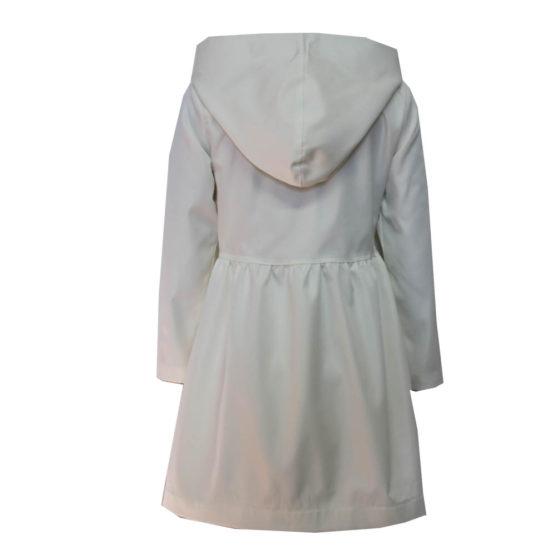 630112 Плащ (костюмная ткань) МОЛОЧНЫЙ