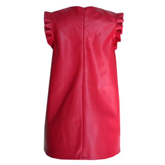 064775 Платье (экокожа) КРАСНЫЙ