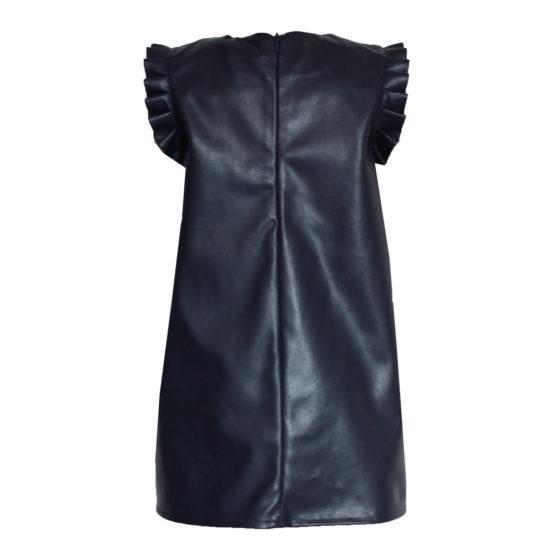 064775 Платье (экокожа) ТЕМНО-СИНИЙ