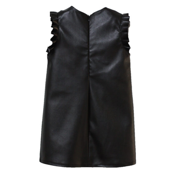 064775 Платье (экокожа) ЧЕРНЫЙ