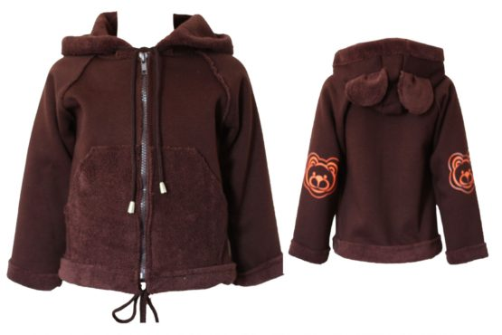 417683 Куртка на молнии «Мишка» (велсофт+супрем)