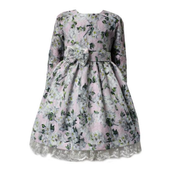 59799 Платье детское с кружевом (ангора-гипюр) МИКС