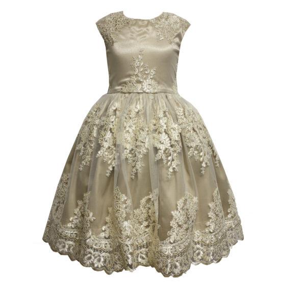 613106 Платье кружевное БЕЖЕВЫЙ