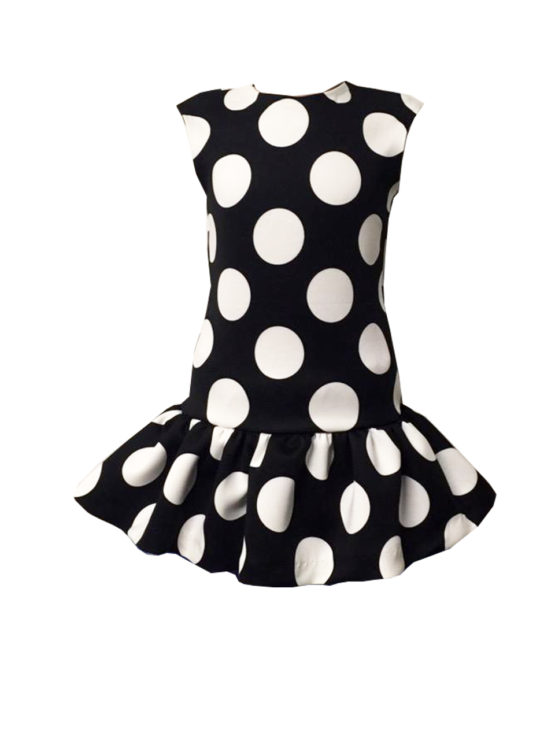 45480 Платье в крупный горох (неопрен)