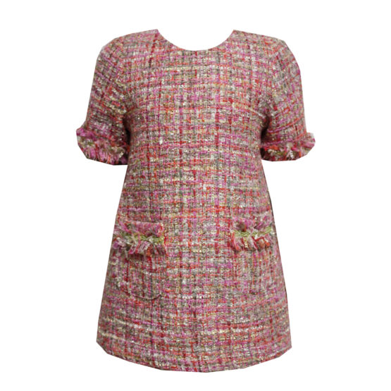 55198 Платье (твид) РОЗОВЫЙ (размер 116-122)