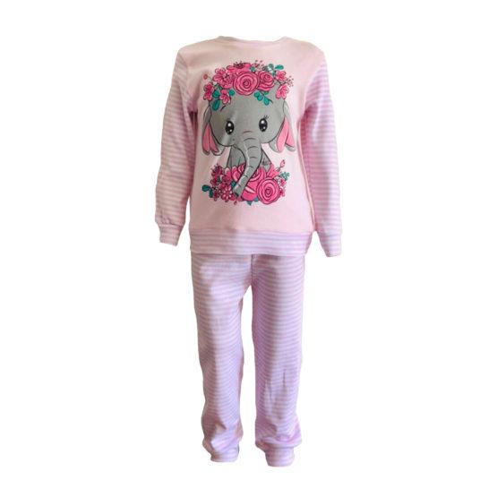 5931012 Пижама комбинированная с аппликацией (интерлок) СЛОНЕНОК
