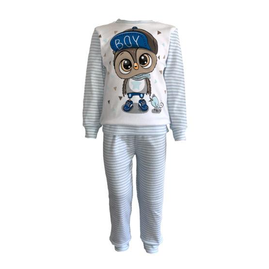 5941014 Пижама комбинированная с аппликацией (интерлок) СОВЕНОК