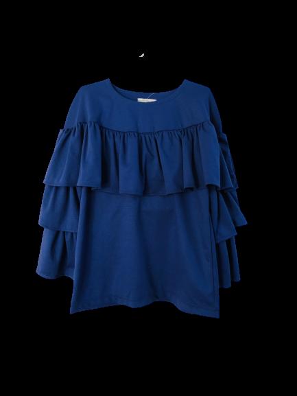 68452 Блуза с оборкой (лакоста)