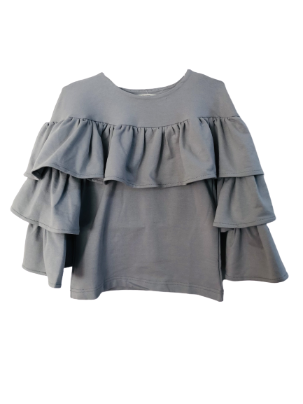 68458 Блуза с оборкой (2 нитки)