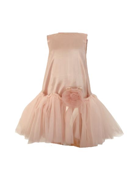 080361 Платье (атлас+фатин)
