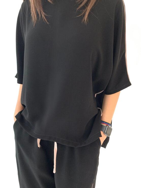62125 Костюм футболка+брюки (ЧЕРНЫЙ)